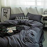 ROLANDBOT Plaid Bettwäsche-Sets Striped Bettwäsche Kollektionen 4 Stück Bettbezug Flated Blatt Mit Kissen-, Ultra Soft, Leicht, hypoallergen, Durable König/Königin (Farbe : 9, Size : 86' x94')