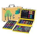 Set de plumas de pincel de acuarela de arte Arte crayón Suministros pincel Conjunto de niños de 158 Herramientas de Pintura Lápices Set Pluma de la acuarela de colores brillantes de los colores Regalo