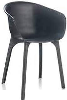 デザインチェアー FLOW ディーバ チェアー ブラック (プラスチック 軽量 屋外 室内 イス インテリア チェアー 木目 イタリア家具 DIVA)