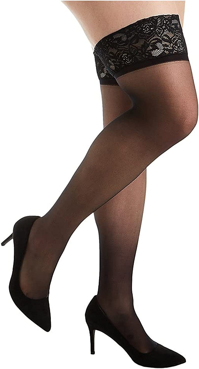 OFFicial shop Hanes womens Curves Sheer High Lace Max 89% OFF Thigh