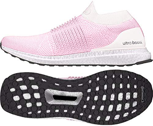 adidas Ultraboost Laceless W, Zapatillas de Running Mujer, Gris (Orchid Tint S18/True Pink/Carbon Orchid Tint S18/True Pink/Carbon), 41 1/3 EU