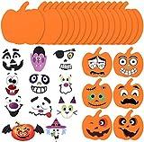 AOPOO 64 Pieces Halloween Pumpkins Shapes Foam Craft Kit and Craft...