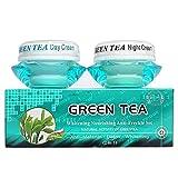 Crema facial de té verde Natural, hidratante, blanqueador, nutritivo, antienvejecimiento, arrugas, día, noche, crema para el cuidado de la piel