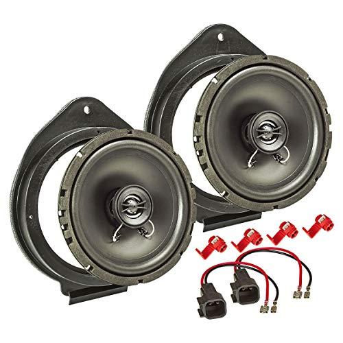 tomzz Audio 4039-007 Lautsprecher Einbau-Set Kompatibel mit Opel Astra Insignia Meriva Mokka Adam Karl 165mm Koaxial System TA16.5-Pro