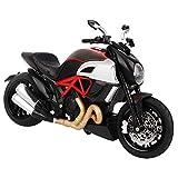 Tnfeeon 1: 12 Escala de Alta Simulación Modelo de Motocicleta de Juguete Moto Kit con Luz y Sonido Mejor Cumpleaños niños