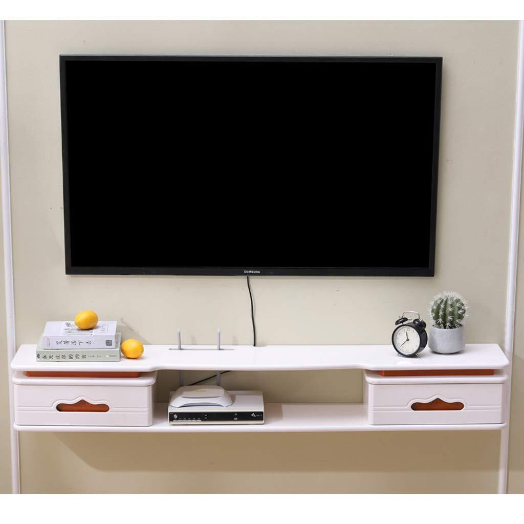 TV Rack Televisor Montado en la Pared Gabinete Estante en la Pared Estante Flotante Set Top Box Router Reproductor de DVD Estante para TV Soporte para TV Consola de TV (Color: Color