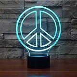 La luz Nocturna de 7 Colores Puede Cambiar la atmósfera de la lámpara de Mesa USB Dormitorio decoración de la mesita de Noche Regalo bebé lámparas de Dormir 5 Control Remoto