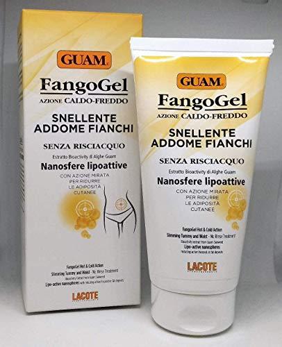 Guam FangoGel Snellente Caldo Freddo Addome Fianchi 150 ml Senza Risciacquo Con Nanosfere Lipoattive