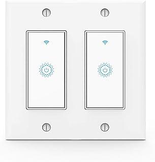 Wifi Smart Light Switch,Work with Alexa,Google Home, Wireless control,Need