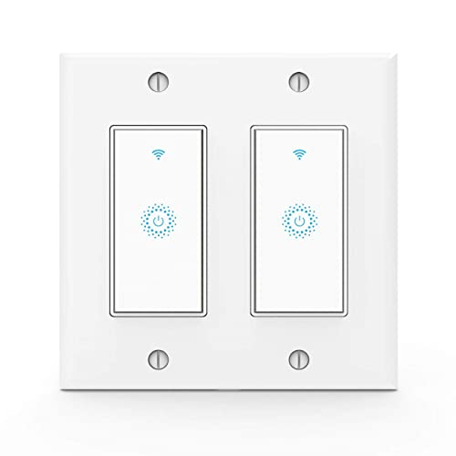 Wifi Smart Light Switch,Work with Alexa,Google Home, Wireless control,Need