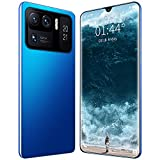 LINGZE Smartphone SIM Free Android 11 Phone Desbloqueado, 7200mAh Battery, 7.0 Inch HD Screen, Triple Camera Dual SIM Phone, Face ID (Azul)