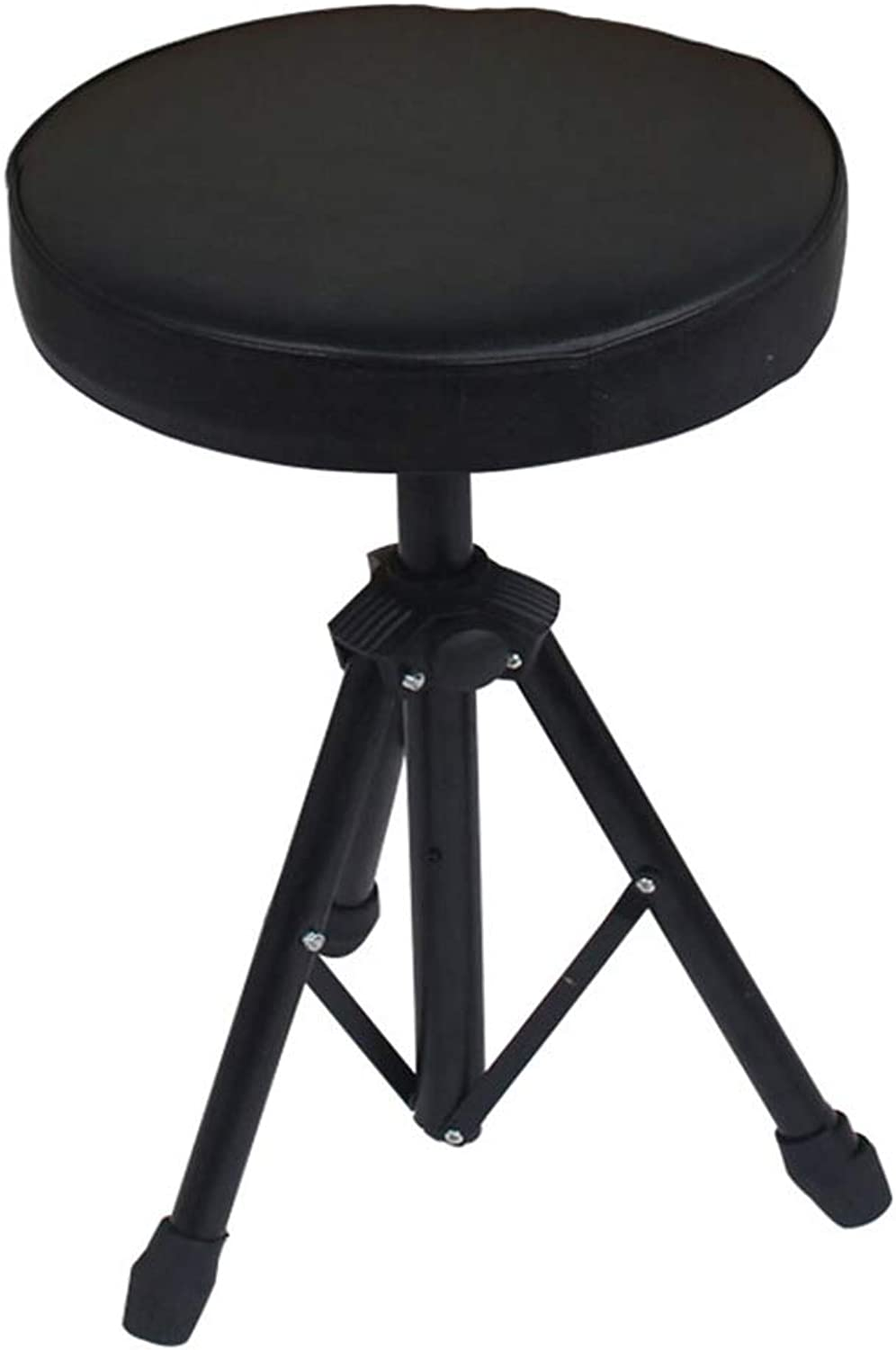 Folding Stool Folding Step Mazza Portable Stool Mazar shoes Stool Footstool Step Stool Adjustable Foot Rest Collapsible Round Piano Jazz Musical Instrument GAOFENG (color   Black)