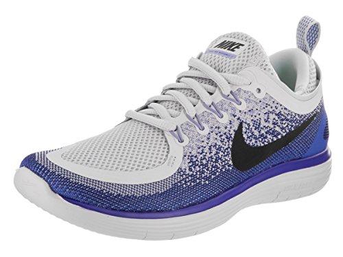 Nike Womens Free Rn Distance 2 Pure Platinum/Black/White Running Shoe 10 Women US