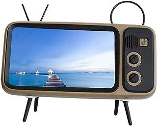Retro Tv Bluetooth Speaker+ Mobile Phone Holder,Retro Bluetooth Speaker Phone Holder Desktop Televison Design Mobile Phone Mount