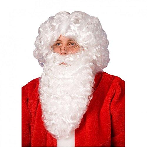 Père Noël barbe et perruque blanche de Santa costume Carnaval de Noël