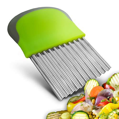 SOMANTI - Gemüsehobel - Wellenschneider - Edelstahl - Wellenmesser für Gemüse - Riffelmesser - Für Baby Led Weaning - Wellenschnittmesser