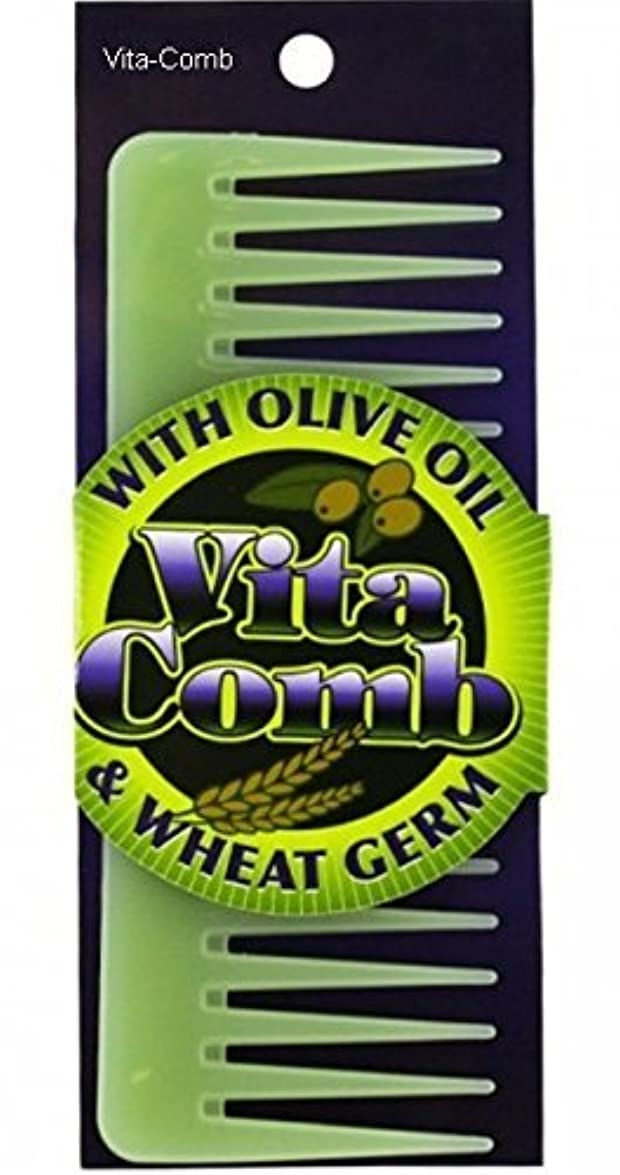 専門知識それによって長方形Vita Comb With Olive Oil and Wheat Germ Moisterizing Conditions Hair Detangling [並行輸入品]