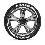 TAYDMEO 3D-Logo Autoreifen DIY Buchstaben Aufkleber, für FIAT 500 Punto Panda Tipo Abarth, Auto Motorrad Reifen Räder Abziehbilder