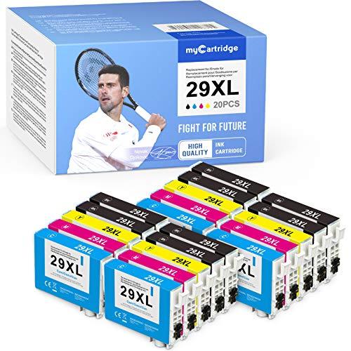 MyCartridge 20 cartuchos de tinta compatibles con Epson 29 XL para impresoras Epson Expression Home XP-235 XP-245 XP-247 XP-332 XP-335 XP-342 XP-345 XP-432 XP-435 XP-442 XP-445