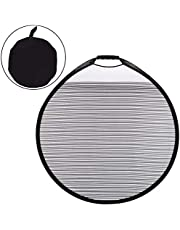 Fansport Panel Reflector Plegable, Color Negro Reflector de luz Plegable de Discos múltiples con Rayas para Coche Reflector Portatil Plegable