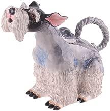 """Blue Sky Ceramic 10""""x5""""x8.5"""" Schnauzer Dog Teapot"""
