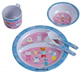 Bieco 04-001151 Melamin Geschirr Kinder Ess-Set Teddy