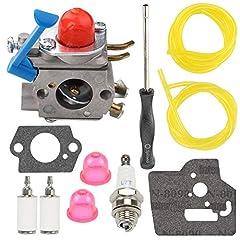 Replaces MPN # 545081850 545081848 545130001 545006060 Replaces # C1Q-W40A Fit 124L 125L 125LD 125R 125RJ 128C 128CD 128L 128LD 128LDX 128R 128RJ 128DJX String Trimmer Brushcutter Package includes 1 carburetor,2 gasket,2 fuel filter,2 fuel line,1 spa...