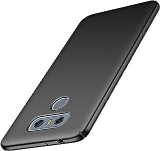 ORNARTO Funda LG G6, LG G6 Carcasa [Ultra-Delgado] [Ligera] Mate Anti-arañazos y Antideslizante Protectora Sedoso Caso para LG G6 (2017) 5.7'Negro