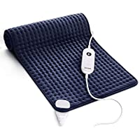 Homech Heating Pad for Back Pain and Cramps with Dry & Moist Heat Therapy, 6 Temperature Settings, Auto Shut-Off