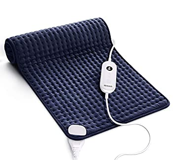 Homech Heating Pad for Back Pain and Cramps - XXX-Large [33 x 17 Inch] Ultra-Soft Heat Pad with Dry & Moist Heat Therapy 6 Temperature Settings Auto Shut-Off