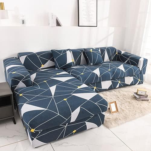 FENFANGAN Fundas Sofa elasticas, Fundas Sofas Ajustables, para Sala de Estar Funda para sofá Chaise Longue, Todo Incluido, Adecuado para la mayoría de los sofás (color16,3-Seater 180-225cm)