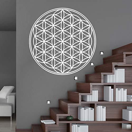 Pegatinas de pared con patrón de flores redondas, decoración del hogar, sala de estar, dormitorio, fondo de pared, pegatinas artísticas A1 57x57cm