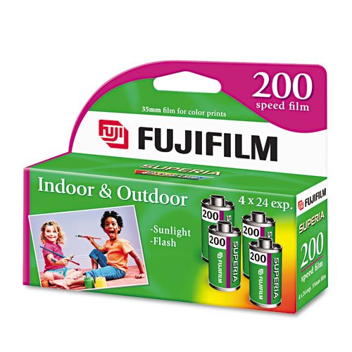 Fujifilm Fujicolor 200 Speed 24 Exposure 35mm Film - 4 Pack (Discontinued by Manufacturer)