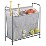 mDesign Sports Storage Rack with Front...