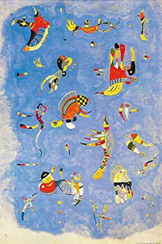 1art1 Wassily Kandinsky - Himmelblau, 1940 XXL Poster 120 x 80 cm