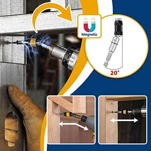 Blacgic Magnetic Spindle Drill tip, electromagnetic Screwdriver, Universal Screwdriver Drill, electromagnetic Screwdriver