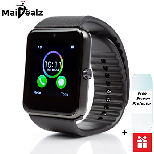 SmartWatch met sim-kaart MaiDealz GT08 Bluetooth Smart Watch Fitness Watch met Touch Screen Hands-Free Calorie Counter Pedometer Bracelet Smart Activity Tracker Wristband voor Android smartphones: Samsung/HUAWEI/HTC/Sony/Google Nexus