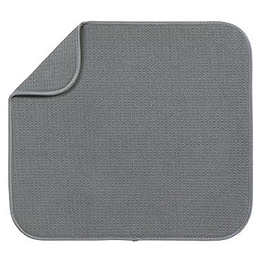 S&T Microfiber Dish Drying Mat, 16  x 18 , Gray