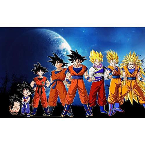 Fabulous Poster Affiche Dragon Ball Évolution de Son Goku Kakarot Enfant Adulte Super Guerrier Saiyan 61x88cm