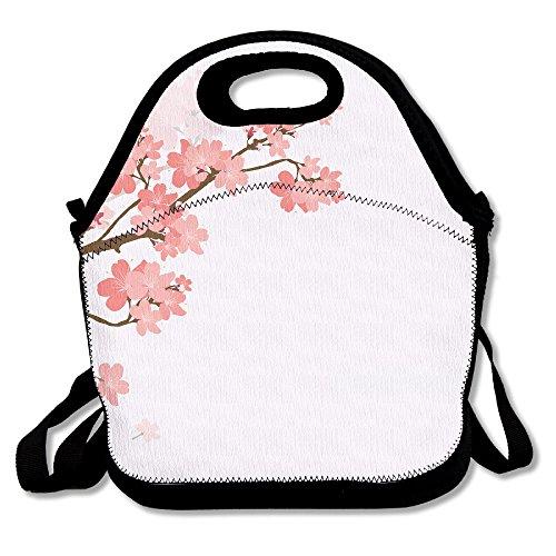 kkwodwcx rosa melocotón flores resistente al agua portátil Bolsa de transporte bolsa para el almuerzo enfriador de bolso con cremallera bolsas de comida Picnic al aire libre bolsa de viaje de moda bolso de mano para mujeres niños niñas