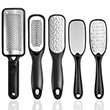 Colossal Foot Rasp Foot File, Topwey 3PCS Professional Foot Pedicure Stainless Steel File for Dead Skin, Foot Scrubber Pedicure Tools Rasp, Dry and Wet Large Surface Foot Care for Smooth Feet