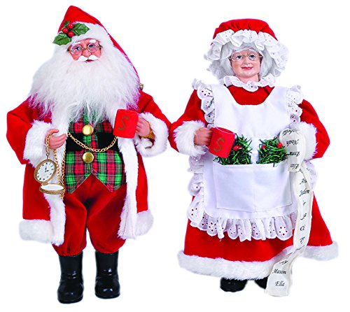 "Santa's Workshop 6517 Mrs Claus Figurine, Set of 2, 15"""