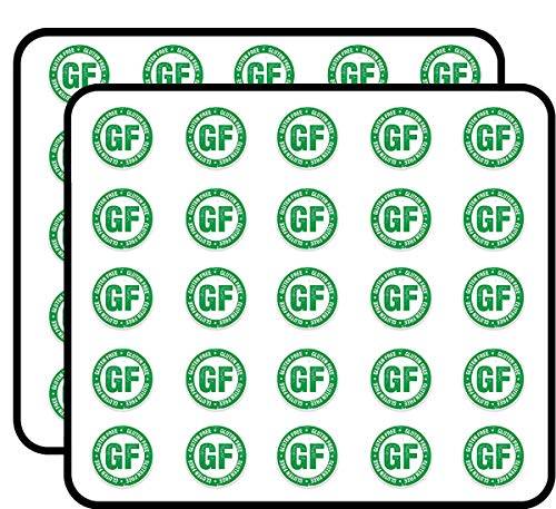 Gluten Free Sticker for Scrapbooking, Calendars, Arts, Kids DIY Crafts, Album, Bullet Journals 50 Pack