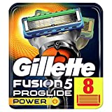 Gillette Fusion5 Proglide Power Lames de Rasoir Homme, Pack de 8 Recharges [OFFICIEL]