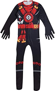 BaronHong Ninja Costume Kids Cosplay Childrens Red Green Black Kung Fu Outfit