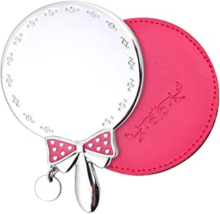 Vanity Mirror Portable Makeup Mirror Bow Handle Designed to Fit On The Zinc Alloy HD for Family Dressing Room