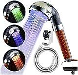 Cabeza de Ducha LED, Soporte de Manguera de reemplazo, 3 Tipos de duchas de...