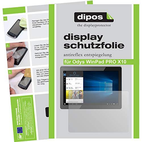 dipos I 2X Schutzfolie matt kompatibel mit Odys WinPad PRO X10 Folie Bildschirmschutzfolie
