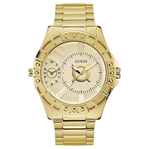 Guess Chrome W1298G1 herenhorloge met behuizing van 50 mm, goudkleurig