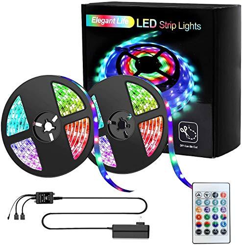LED Strip 10m Lichtstreifen Beleuchtung, Lichtleiste 32,8ft RGB SMD Lichterketten, IR-Fernbedienung Wireless gesteuert, LED-Leuchten für Party, Schlafzimmer, Home, TV, Küche Dekoration